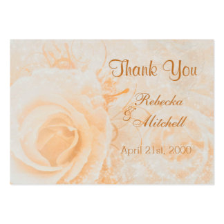 Gorgeous peach cream rose Wedding Thank you Pack Of Chubby Business Cards