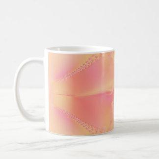 Gorgeous Peach Fractal Coffee Mug