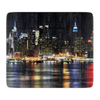 Gorgeous Photo of New York at Night Time Cutting Board