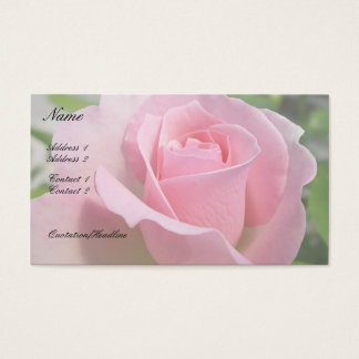 Gorgeous Pink Rose Business Card