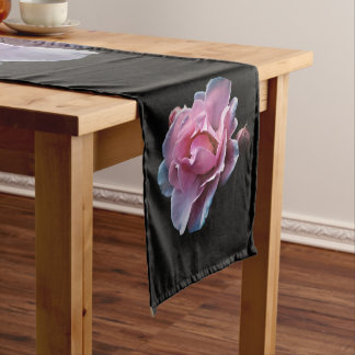 Gorgeous Pink Rose on Black.