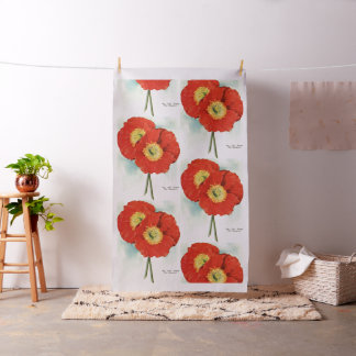 Gorgeous Poppies: 1940 illustration Fabric