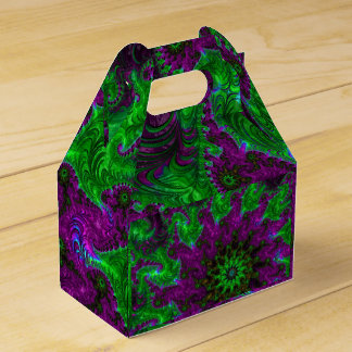 Gorgeous Purple and Lime Fractal Favour Box