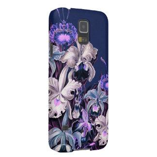 Gorgeous Purple Blue Vintage Flowers Galaxy S5 Case