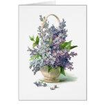 Gorgeous Purple Lavendar Lilac Basket Card