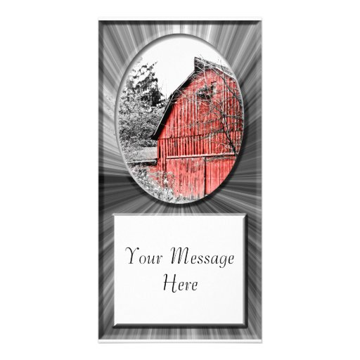 Gorgeous Red Barn Photo Cards