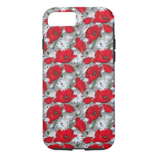 Gorgeous red poppies summer flowers pattern iPhone 8/7 case