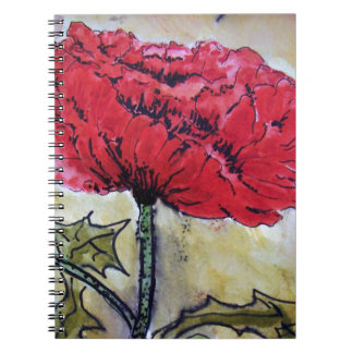 Gorgeous Red Poppy Notebook