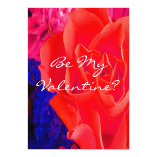 """Gorgeous Red Red Rose 5"""" X 7"""" Invitation Card"""