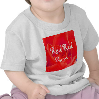 Gorgeous Red Red Rose T-shirts