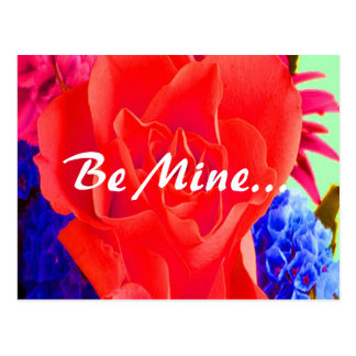 Gorgeous Red Red Rose Valentine II Postcard Post Card