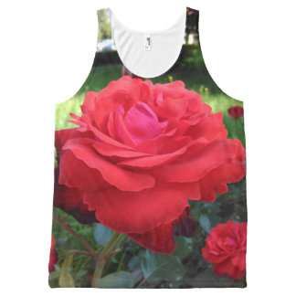Gorgeous Red Roses All-Over Print Singlet