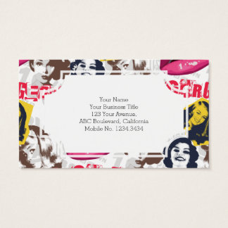 Gorgeous Retro Pinup Collage Barely There Business Card