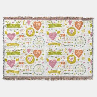 Gorgeous Romantic-Themed Cuddle Blanket