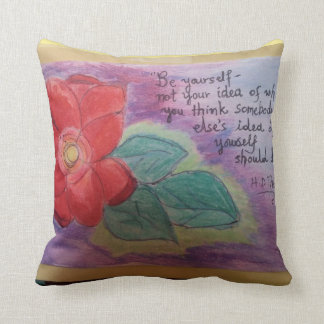 Gorgeous rose in vivid colors cushion