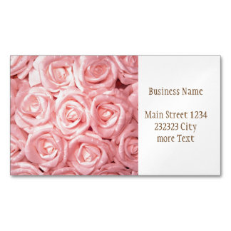 gorgeous roses G Magnetic Business Cards