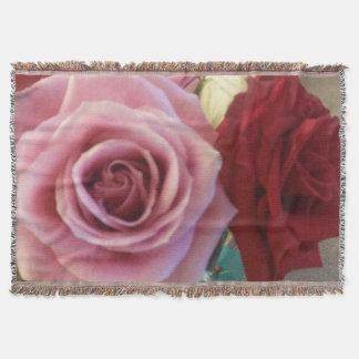 Gorgeous Roses Print Throw Blanket