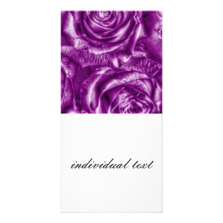 Gorgeous Roses,purple Picture Card