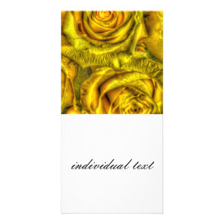 Gorgeous Roses, yellow Customized Photo Card