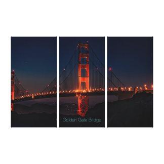 Gorgeous San Francisco Golden Gate Bridge at Night Canvas Print