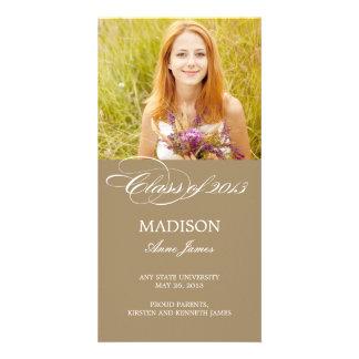 Gorgeous Script Graduation Announcement Customized Photo Card