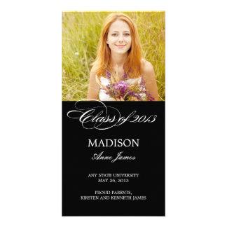 Gorgeous Script Graduation Announcement Personalized Photo Card