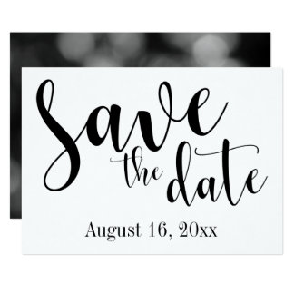 "Gorgeous Script Typography, Simple ""Save the Date"" Card"
