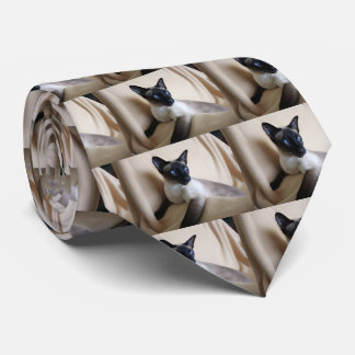 Gorgeous Siamese Cat Face Tie