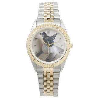 Gorgeous Siamese Cat Face Watch