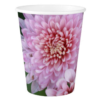 Gorgeous Soft Pink Flowers Paper Cup