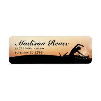 Gorgeous Sunrise Yoga Fitness Return Address Label