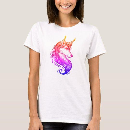 Gorgeous Sunset Hand Drawn Wolf T-Shirt by Mei Yu