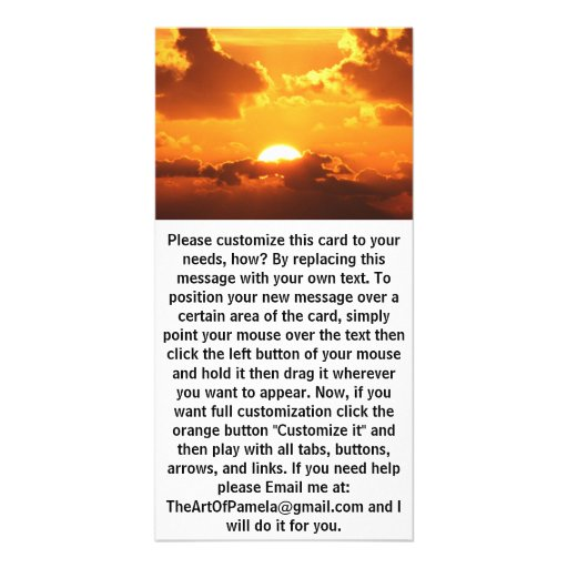 Gorgeous Sunset Photo Card Template