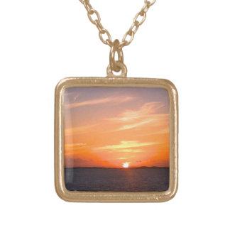 Gorgeous Sunset   Turks and Caicos Photo Pendants