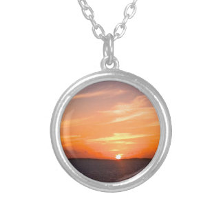 Gorgeous Sunset   Turks and Caicos Photo Necklace