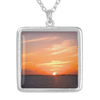 Gorgeous Sunset   Turks and Caicos Photo Necklaces
