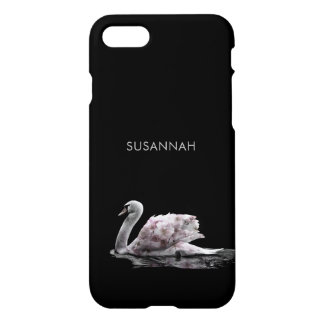 Gorgeous Swan Roses Double Exposure Portrait iPhone 8/7 Case