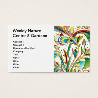 Gorgeous Swirling Flowers Business Card