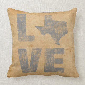 Gorgeous Texas Map Rustic Patriotic Love Texas Throw Pillow