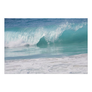 Gorgeous Turquoise Wave Poster