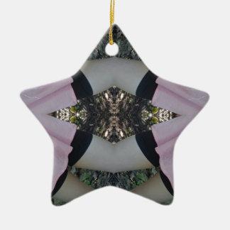 Gorgeous uncommon Lavender Black Pattern Ceramic Ornament