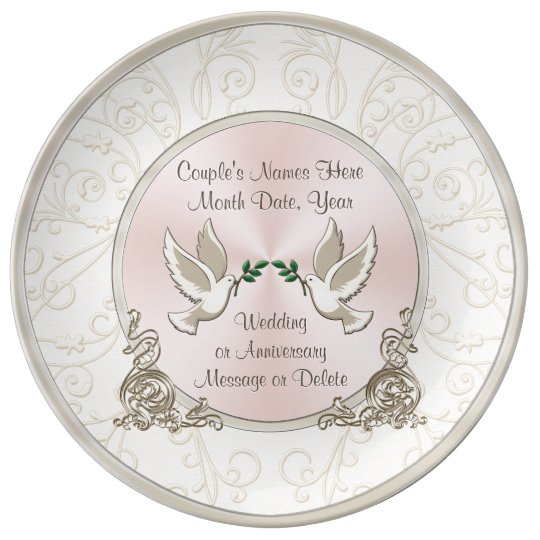 Gorgeous Unique Personalised Wedding Gift Ideas Plate Zazzle
