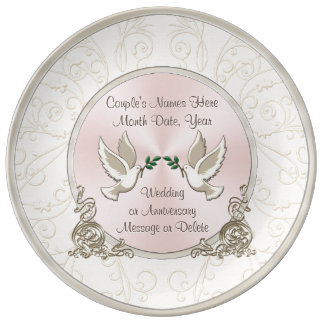 Gorgeous Unique Personalized Wedding Gift Ideas Plate