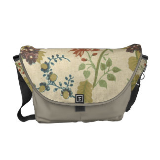 Gorgeous Vintage Antique Floral Messenger Tote Messenger Bags