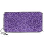 Gorgeous vintage Art Nouveau floral purple pattern Portable Speakers