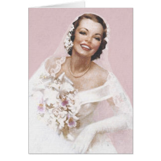 Gorgeous Vintage Bride, Rose Card