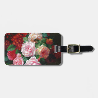 Gorgeous Vintage Flower Luggage Tag