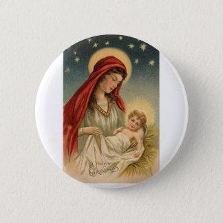 Gorgeous Vintage Mary with Jesus 6 Cm Round Badge