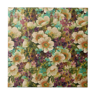 Gorgeous Vintage Mixed Floral Ceramic Tile