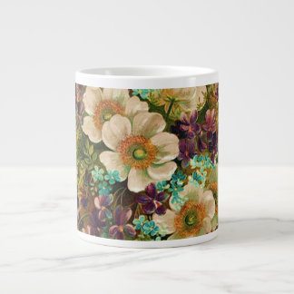Gorgeous Vintage Mixed Floral Jumbo Mug